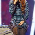 """Exclusif - La chanteuse Zaz - Enregistrement de l'emission """"Les Disques d'Or"""" au Palais des Sports de Paris le 27 novembre 2013."""