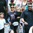 Kourtney Kardashian et Scott Disick célèbrent l'anniversaire de Mason Dash Disick (7ans) et de Reign Aston Disick (2ans) au Disneyland Resort à Anaheim, Californie, Etats-Unis, le 14 décembre 2016.