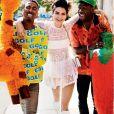 Kendall Jenner, Tyler, The Creator, Taco et le photographe Mario Testino en shooting pour Vogue, à Los Angeles. Décembre 2016.