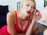 Karlie Kloss : Torride pour les fêtes, en lingerie et talons hauts !