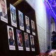 Hommage aux victimes du crash aérien en mer Noire à Moscou, Russie, le 25 décembre 2016. Un avion militaire russe qui se dirigeait vers la Syrie s'est abîmé en Mer Noire, quelques minutes après son décollage de Sotchi, Russie, le dimanche 25 décembre 2016.