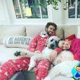 Miley Cyrus et Liam Hemsworth affichent leur amour pour fêter Noël. Photo postée sur Instagram le 25 décembre 2016