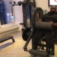 Issa Doumbia multiplie les séances de sport afin de perdre du poids. Décembre 2016.