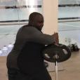 """""""Issa Doumbia multiplie les séances de sport afin de perdre du poids. Décembre 2016."""""""