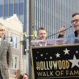 Daniel Radcliffe, Chris Hardwick, Chris Columbus - Daniel Radcliffe reçoit son étoile sur le Walk of Fame à Hollywood, le 12 novembre 2015