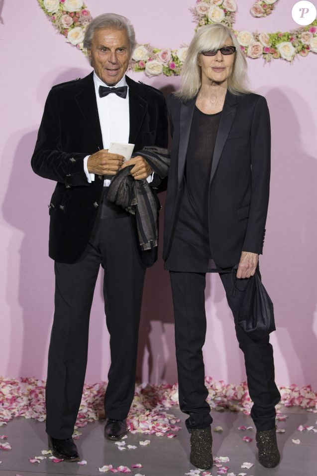 François Catroux et sa femme Betty Catroux - Gala d'ouverture de la saison du Ballet de l'Opéra national de Paris, le 24 septembre 2015.