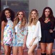 Leigh-Anne Pinnock, Jade Thirlwall, Perrie Edwards et Jesy Nelson - Les Little Mix chantent sur le plateau du Today Show à New York le 19 août 2015.