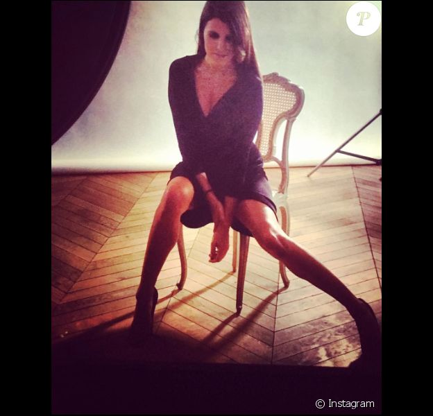 Karine Ferri sexy sur Instagram, le 4 janvier 2017.