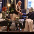 Valérie Damidot piège Fauve Hautot dans l'émission Les Invisibles, sur TF1, le 6 janvier 2017