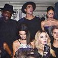 """Anthony Alcaraz, candidat des """"Anges 9"""", avec Kendall Jenner, Justin Bieber et Madonna, Instagram, 2016"""