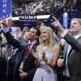 """""""Donald Trump Jr., Ivanka Trump et Eric Trump à Cleveland, le 19 juillet 2016."""""""