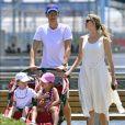 """Exclusif - Ivanka Trump, son mari Jared Kushner et leurs enfants Arabella et Joseph à New York le 26 juin 2016."""