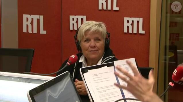 Mimie Mathy invitée de Marc-Olivier Fogiel sur RTL, le 10 janvier 2017