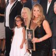Mariah Carey et sa fille Monroe Cannon sur le Walk of Fame à Hollywood, le 5 août 2015.