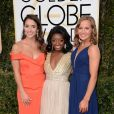 """Aly Raisman, Simone Biles et Madison Kocian aux 74e Golden Globe Awards à Beverly Hills. Los Angeles, le 8 janvier 2017."""