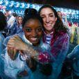 Simone Biles et Aly Raisman à la cérémonie de clôture des Jeux olympiques de Rio. Août 2016.