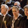 La veuve du prince Dimitri Romanovitch de Russie, la princesse Theodora (Dorrit Reventlow) lors des funérailles du prince en l'église orthodoxe russe St Alexandre Nevsky à Copenhague, le 10 janvier 2017.