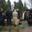 Inhumation du prince Dimitri Romanovitch de Russie, défunt chef de la Maison Romanov, au cimetière Vedbaek à 20 km au nord de Copenhague, le 11 janvier 2017.