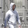 Alex Pettyfer à la sortie de son cours de gym dans le quartier de Manhattan à New York, le 24 avril 2016