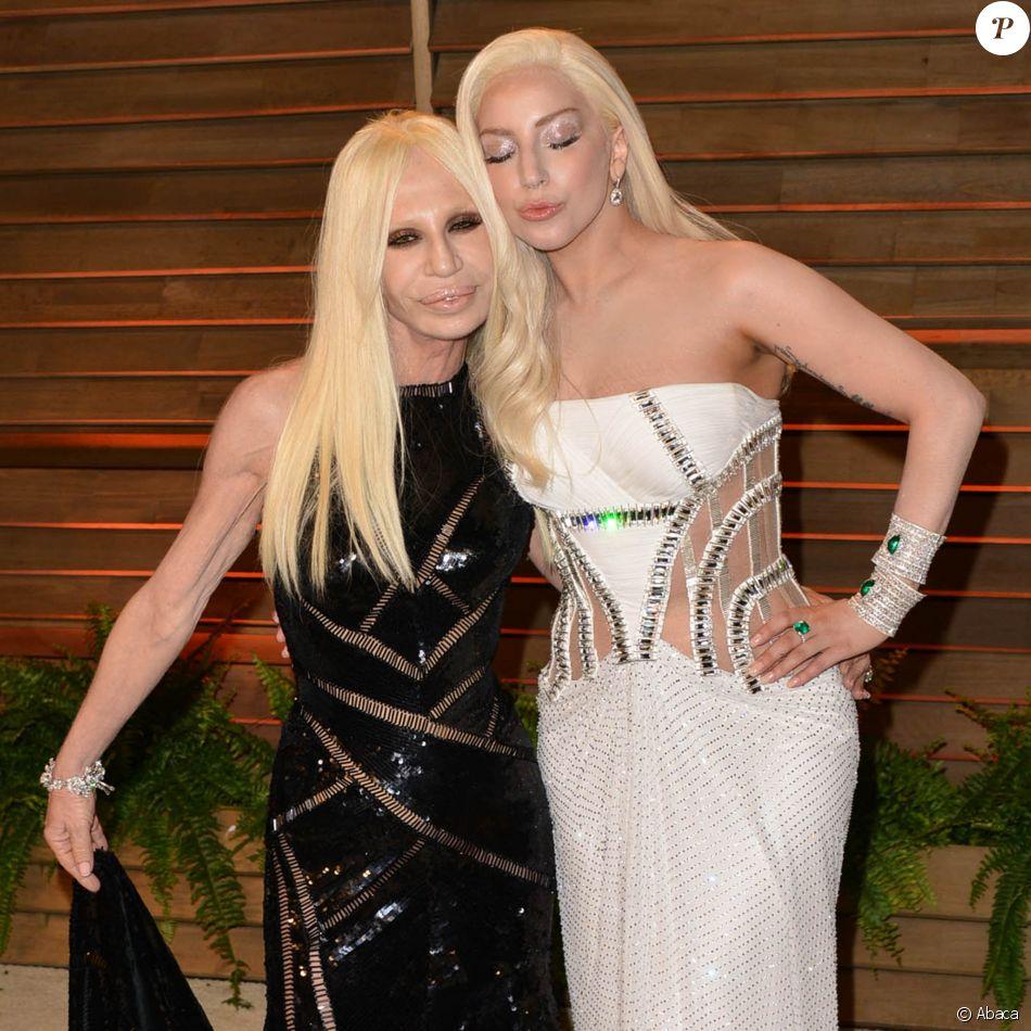 Donatella Versace et Lady Gaga à Los Angeles. Mars 2014.