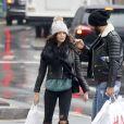 Nabilla Benattia et son compagnon Thomas Vergara à New York, le 18 décembre 2016.