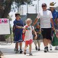 Lance Armstrong et ses trois enfants