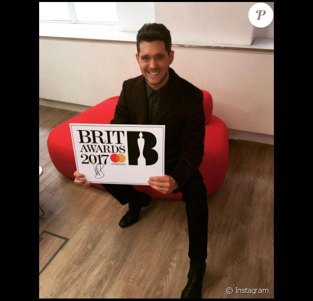 Michael Bublé avait officialisé la présentation des Brit awards 2017 sur sa page Instagram en octobre 2016.