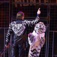 Zapashny Brothers (fauves) - La famille princière de Monaco lors du 41e Festival International du Cirque de Monte-Carlo, le 20 janvier 2017. © Pool/Frédéric Nebinger Monaco/Bestimage