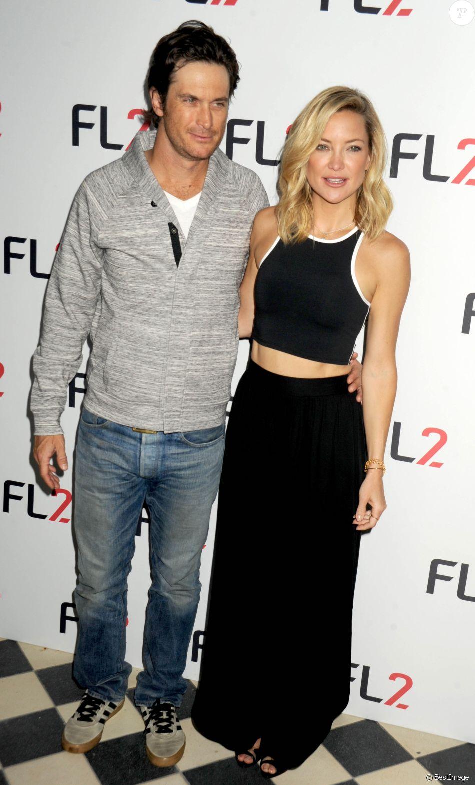 Kate Hudson et son frère Oliver Hudson au lancement de la collection FL2 à New York le 4 juin 2015.