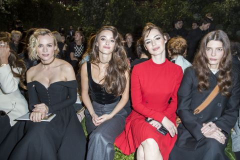 Fashion Week : Louise Bourgoin, Charlotte Le Bon... Sublimes pour Christian Dior