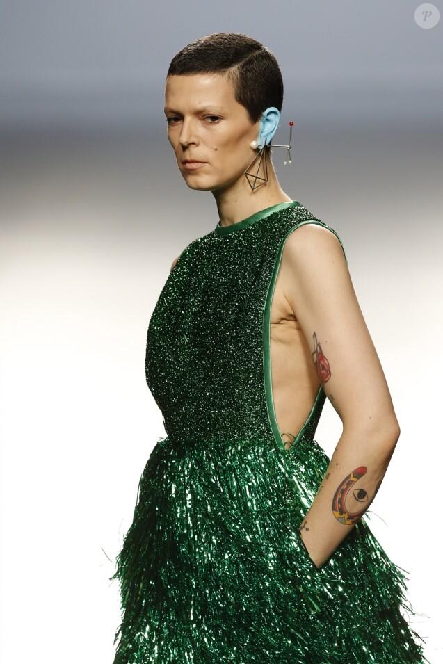 "Bimba Bosé (Eleonora Salvatore González) lors du défilé de mode ""David Delfin"" pendant la Pasarela Cibeles - Mercedes-Benz Fashion Week à Madrid, le 14 septembre 2014."