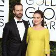 Benjamin Millepied et sa femme Natalie Portman (enceinte) - 74e cérémonie annuelle des Golden Globe Awards à Beverly Hills. Le 8 janvier 2017