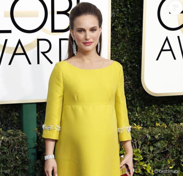 Natalie Portman enceinte - 74e cérémonie annuelle des Golden Globe Awards à Beverly Hills, le 8 janvier 2017. © Olivier Borde/Bestimage