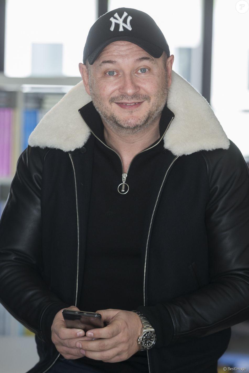 """Exclusif - Rendez-vous avec Sébastien Cauet dans les locaux de Webedia pour une interview pour """"Purepeople"""" à Levallois-Perret le 26 janvier 2017."""