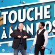 Exclusif - Cauet et Cyril Hanouna - Enregistrement de la première émission de la rentrée de Touche pas à mon poste (TPMP) sur C8 à Paris le 5 septembre 2016. © Dominique Jacovides / Bestimage