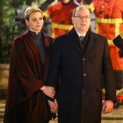 Charlene et Albert de Monaco : Tendrement unis face aux flammes de Sainte Dévote