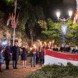 Le prince Albert II de Monaco et la princesse Charlene ont participé le 26 janvier 2017 à la célébration de Sainte Dévote à Monaco. © Eric Mathon palais princier/Pool restreint Monaco/Bestimage