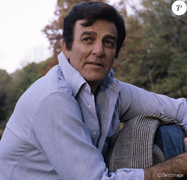 Mike Connors, dans le parc du Château de Bourdonné le 19 novembre 1977.