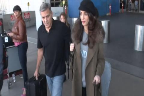 Amal Clooney enceinte ? Toujours pas de ventre rond à l'horizon...