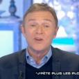 """Christophe Hondelatte, le 28 janvier 2017 sur Canal+ dans """"Salut les terriens""""."""