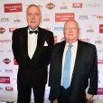Dominique De Bellaigue et Jacques Myard lors du dîner de gala du 96e Prix d'Amérique Opodo à l'hôtel Salomon de Rothschild à Paris, le 28 janvier 2017. © Guirec Coadic/Bestimage