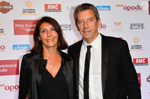 Michel Cymes avec sa femme Nathalie lors du dîner de gala du 96e Prix d'Amérique Opodo à l'hôtel Salomon de Rothschild à Paris, le 28 janvier 2017. © Guirec Coadic/Bestimage