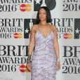 Rihanna à la Cérémonie des BRIT Awards 2016 à l'O2 Arena à Londres, le 24 février 2016.