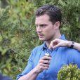 """Dakota Johnson et Jamie Dornan sur le tournage du film """"Cinquante nuances plus sombres"""" à Vancouver. Le 11 avril 2016"""