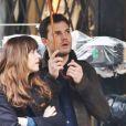 """Jamie Dornan et Dakota Johnson sur le tournage de """"Fifty Shades Darker"""" à Vancouver, le 7 mars 2016."""