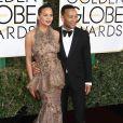 Chrissy Teigen et son mari John Legend à la 74ème cérémonie annuelle des Golden Globe Awards à Beverly Hills. Le 8 janvier 2017