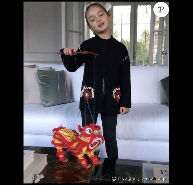 Ivanka Trump a publié une vidéo de sa fille Arabella en train de chanter la bonne année en madarin, sur Instagram le 2 février 2017