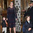 Ivanka Trump quitte son appartement avec ses enfants Arabella et Joseph à New York le 22 novembre 2016.