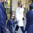 Exclusif - Ivanka Trump et sa fille Arabella Rose Kushner quittent leur appartement de New York pour se rendre à la Trump Tower le 8 novembre 2016, jour des élections présidentielles américaines.