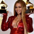 Beyonce lors de la 59e cérémonie des Grammy Awards, au Staples Center de Los Angeles, le 12 février 2017.